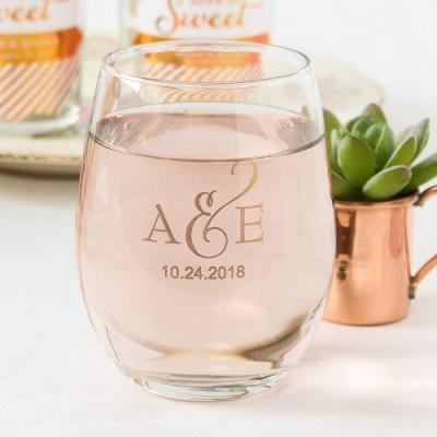 Personalized 9 oz. Stemless Wine Glass