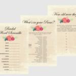 Free Printable Bridal Shower Games