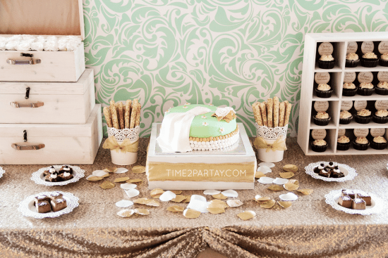 A Mint to Be Bridal Shower dessert table
