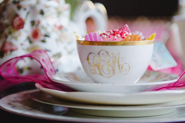 alice in wonderland tea party bridal shower tea cups
