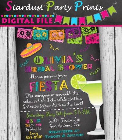 Fiesta Bridal Shower Invitation