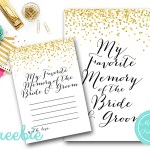 Free Favorite Memory of the Bride and Groom