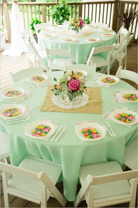 Mint And Peach Vintage Bridal Shower Bridal Shower Ideas