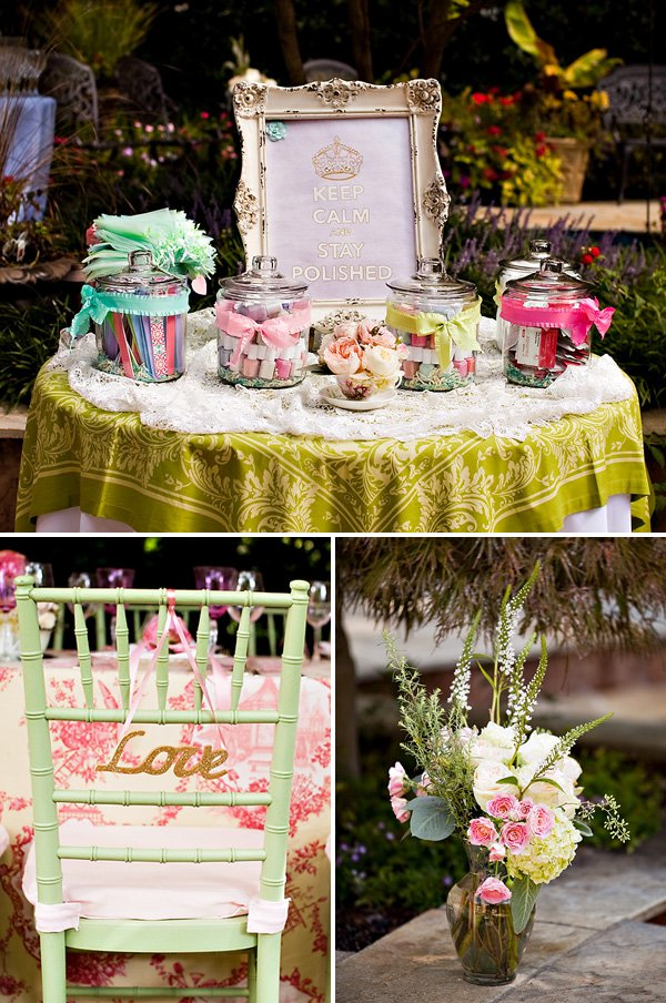 Outdoor vintage lace tea party bridal shower bridal for Bridal shower kitchen tea ideas
