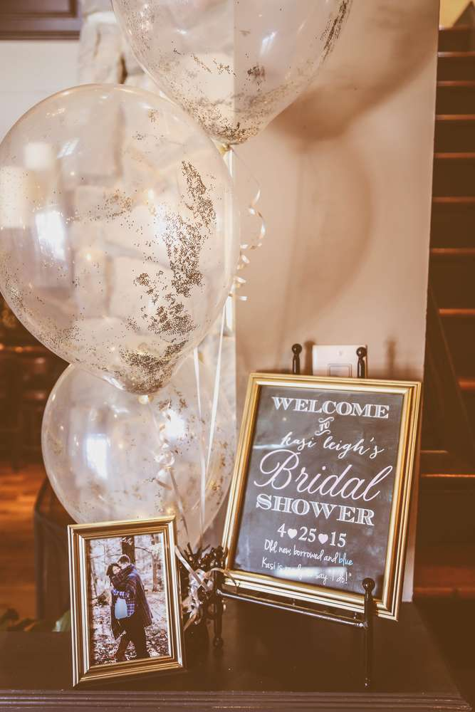 Sophisticated kate spade inspired bridal shower bridal for Wedding shower decorations ideas
