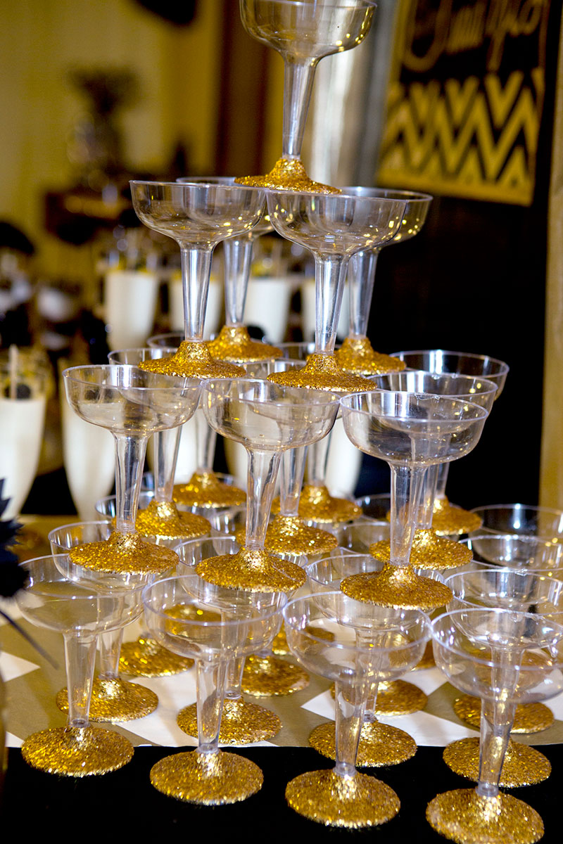 Gold and black bridal shower bridal shower ideas themes for Gold party