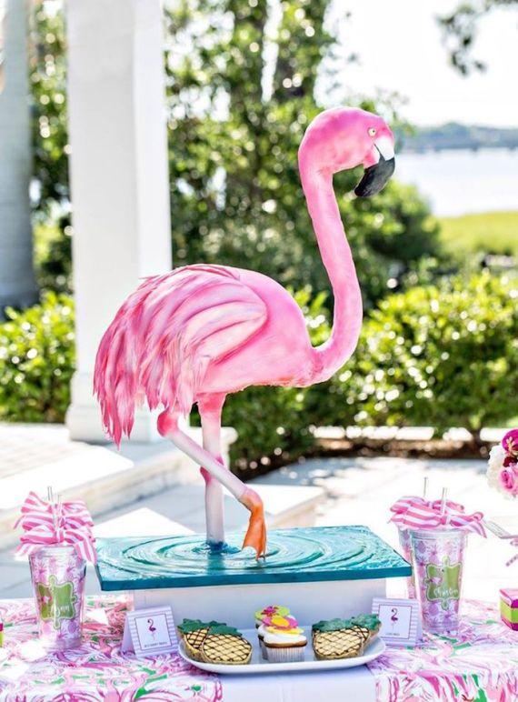 Tropical-Bridal-Shower-Flamingo-Cake