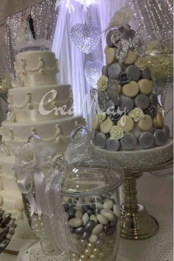 Silver-Wonderland-Wedding-Jar-Candies