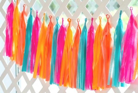 Pink-Tropical-Bridal-Shower-Tassels