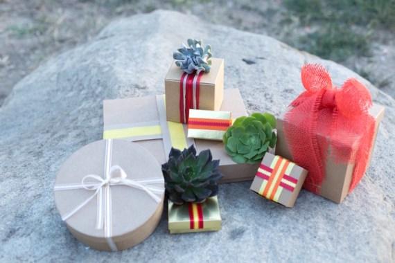 Colorful-Au-Natural-Bridal-Shower-Gift-Pile