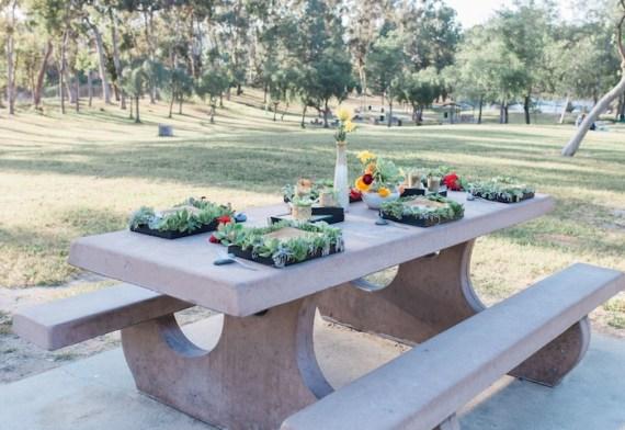 Colorful-Au-Natural-Bridal-Shower-Picnic-Table