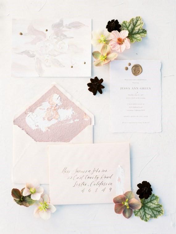 Dreamy Outdoor Bridal Shower invitation suite