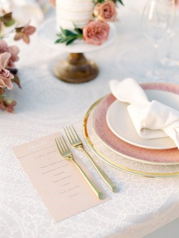 Dreamy Outdoor Bridal Shower menu