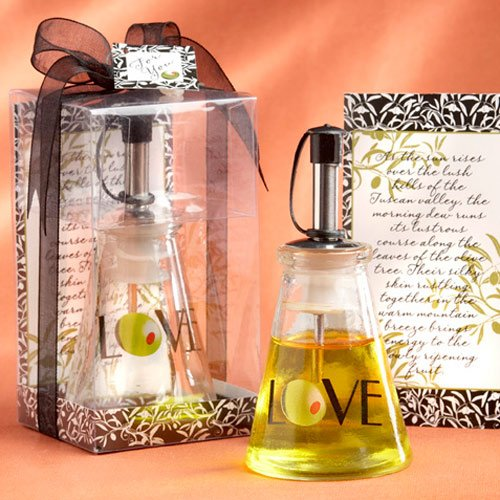 Olive You Glass Oil Bottle in Gift Box wedding thank you gift