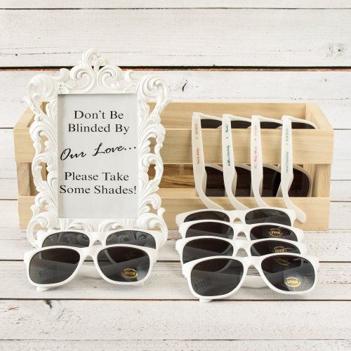 wedding favor Sunglasses with Personalized Labels
