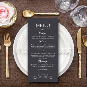 Personalized Elegant Modern Wedding Menu-Custom Wedding Menu Printable