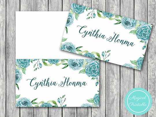 Printable Wedding Name Card Labels Wedding Place cards
