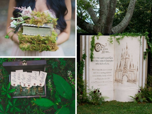 fairytale wedding ideas moss and happily ever after