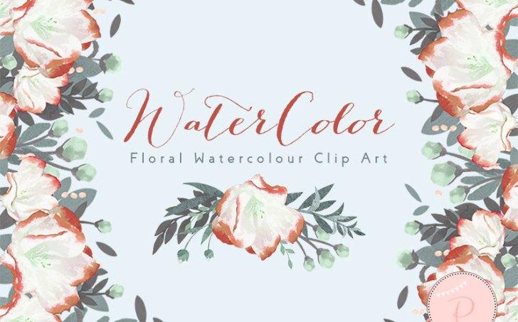 WCA94-orange-floral-cliparts