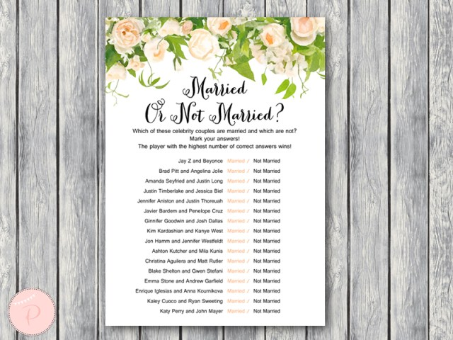 Peonies bridal shower game printable bride bows for Non traditional bridal shower games