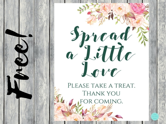 FREE Boho Mimosa Bar and Spread Love Sign (1)