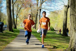 Alex & Justin of the Blackham Middle school XC team. 1st year runners!