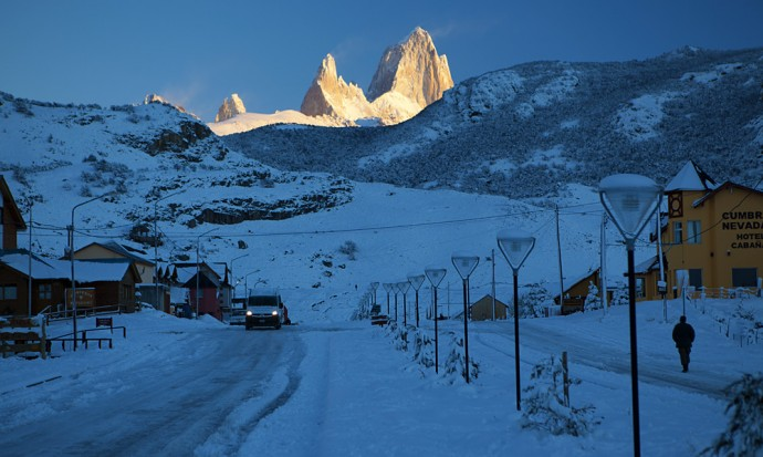 Fitz Roy in the morning, El Chalten.