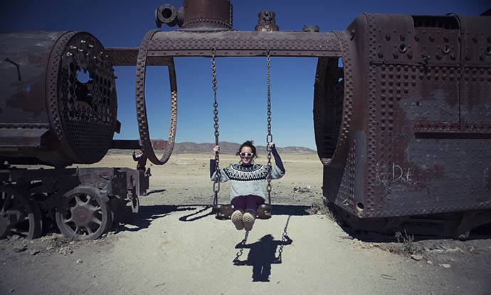 Swinging in Uyuni