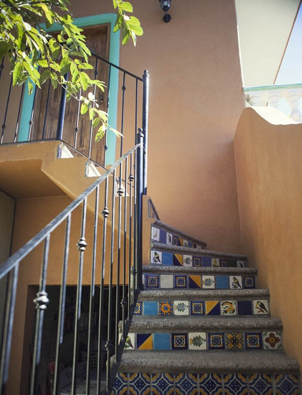 Staircase to apartment San pancho Mexico