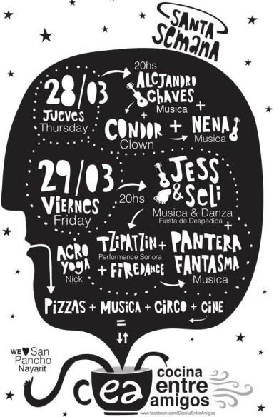 Cocina Entre Amigos poster in San Pancho, Mexico