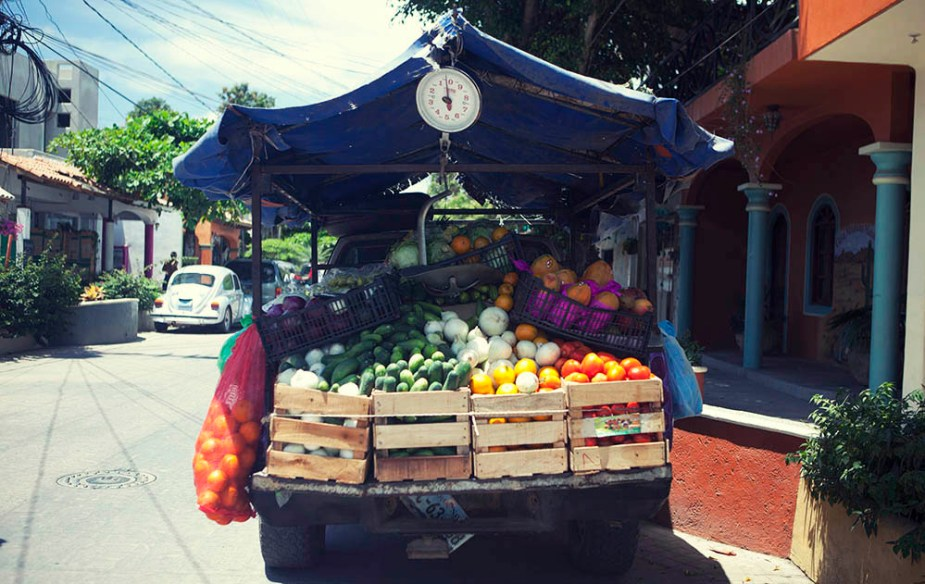 Fruit truck in San pancho, Mexico