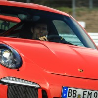 Mark Webber drives a Porsche 991 GT3RS at the Nurburgring Nordschleife