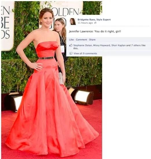 Jennifer Lawrence 2013 Golden Globes Fashion