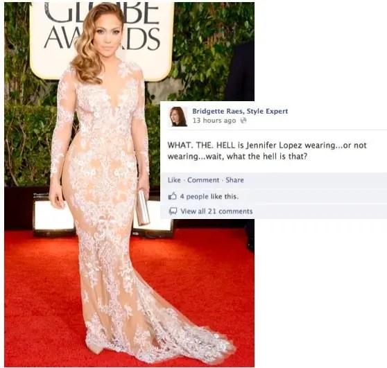 Jennifer Lopez 2013 Golden Globes Fashion