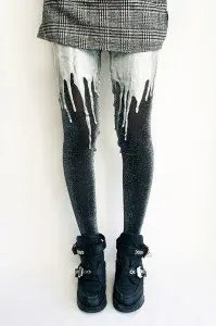 Silver Melting Tights