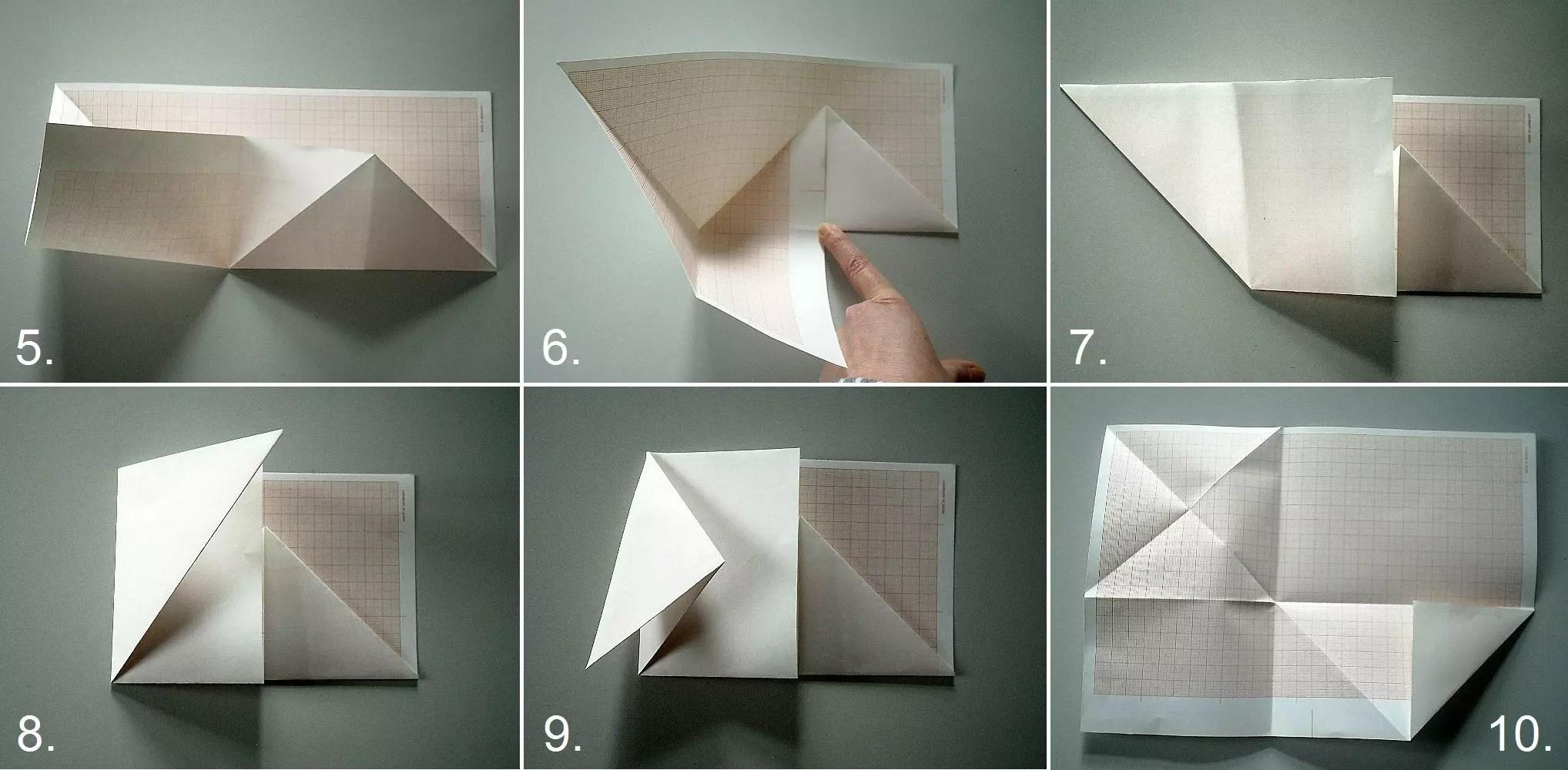 Brief Falten 3 Teile : Anleitung briefe kunstvoll falten