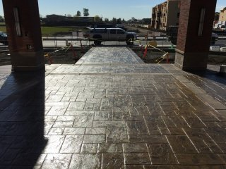 """Brick"" walkway"