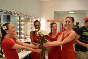 Dancers Brigette Cormier, Sasha Caicedo, Amanda Edwards, Juliana Trivino
