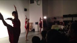 "Performance of ""Southern Breakdown"" at Dance Soiree: Miami Edition. Performing are Juliana Triviño, Brigette Cormier, and Sasha Caicedo"
