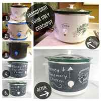 Chalkboard Paint Your Crockpot!