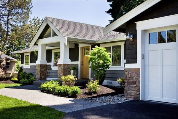 Dark Ranch Home with Craftsman Details
