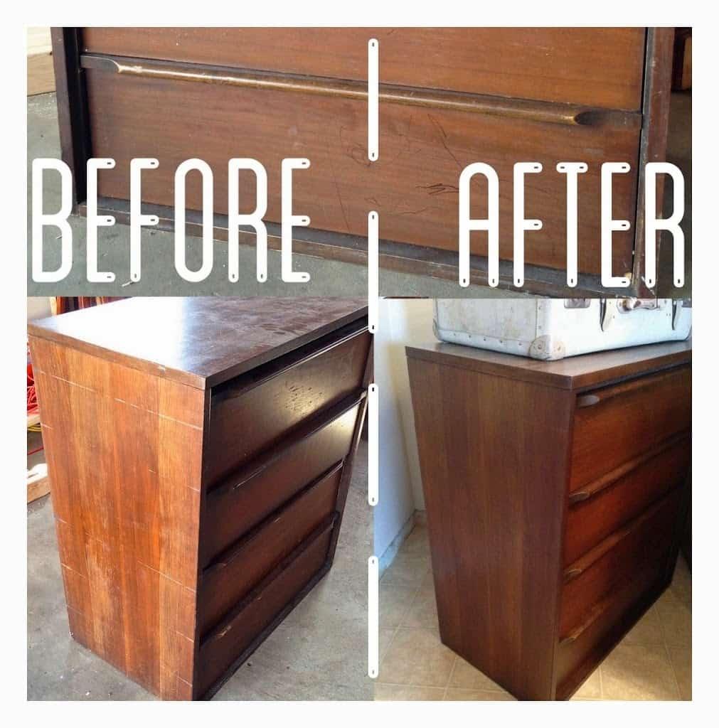 Captivating Midcentury Dresser Refinish Before After Midcentury Dresser Without Sanding Or Staining Restor A Finish Menards Restor A Finish Colors houzz 01 Restore A Finish