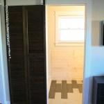 Barn door to master bathroom