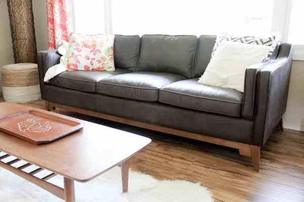 the best mid century couch ever bright green door