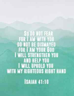 Isaiah 41:10 Free Printable