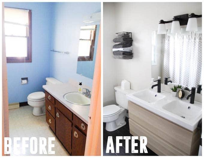 Ikea Bathroom Affordable Modern Remodel