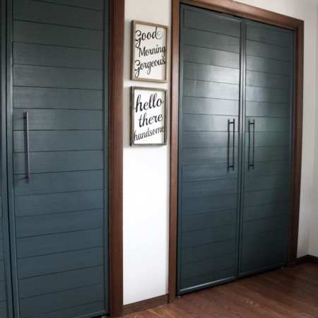 Modern French Doors on Closet