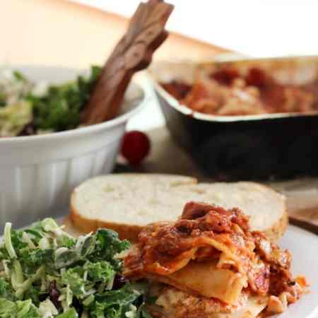 Easy Frozen Lasagna with Meat Sauce