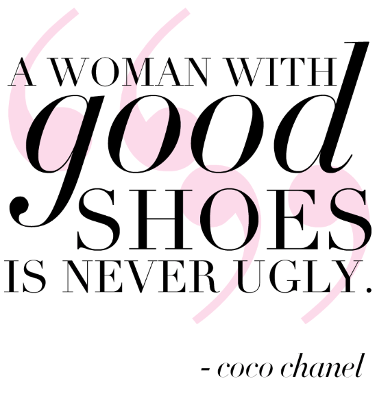 A Woman with good shoes