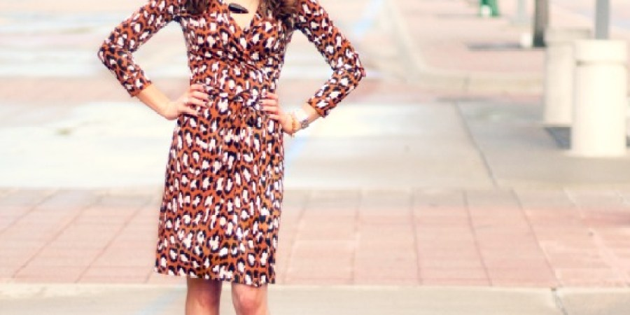 DVF Leopard Print Wrap Dress